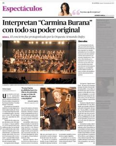 03-10-13 Interpretan Carmina Burna con todo su poder original