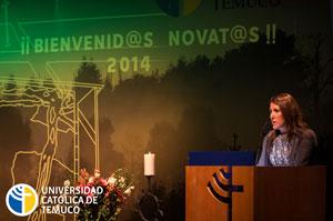 La decana, Paula Riquelme, instó a los futuros profesores a ser valientes y prolijos en el desarrollo de su profesión.