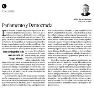 23-11-2014-columna obispo Parlamento y democracia
